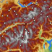 Nearby Forecast Locations - Visp - Map