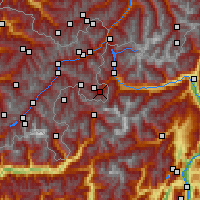 Nearby Forecast Locations - Santa Maria Val Müstair - Map