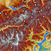Nearby Forecast Locations - Fiesch - Map