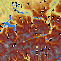 Nearby Forecast Locations - Braunwald - Map