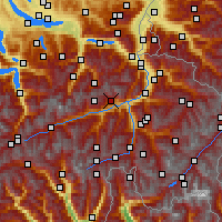 Nearby Forecast Locations - Flims - Map