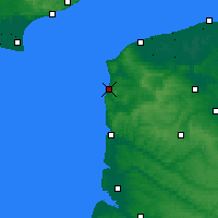 Nearby Forecast Locations - Boulogne-sur-Mer - Map