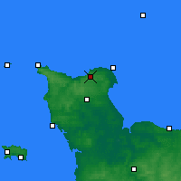 Nearby Forecast Locations - Cherbourg-en-Cotentin - Map