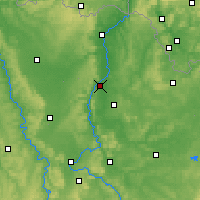 Nearby Forecast Locations - Metz - Map