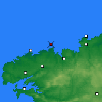 Nearby Forecast Locations - Île de Batz - Map