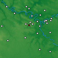 Nearby Forecast Locations - Toussus-le-Noble - Map