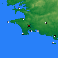 Nearby Forecast Locations - Quimper - Map