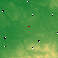 Nearby Forecast Locations - Châteauroux - Map