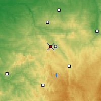 Nearby Forecast Locations - Guéret - Map