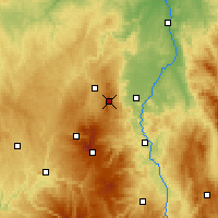 Nearby Forecast Locations - Puy de Dôme - Map