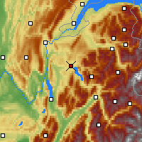 Nearby Forecast Locations - Annecy - Map