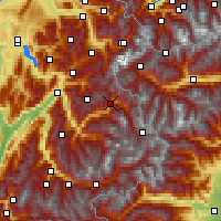 Nearby Forecast Locations - Bourg-Saint-Maurice - Map