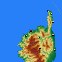 Nearby Forecast Locations - L'Île-Rousse - Map