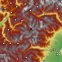 Nearby Forecast Locations - Val-d'Isère - Map