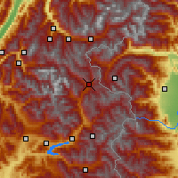 Nearby Forecast Locations - Briançon - Map