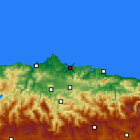 Nearby Forecast Locations - Gijón - Map