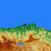 Nearby Forecast Locations - Santander - Map