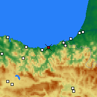 Nearby Forecast Locations - San Sebastián - Map