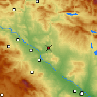 Nearby Forecast Locations - Bardenas Reales - Map