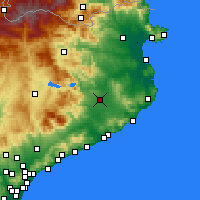 Nearby Forecast Locations - Girona - Map