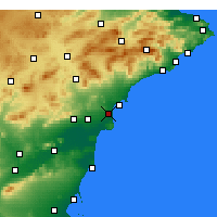 Nearby Forecast Locations - El Alted - Map