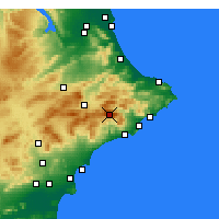 Nearby Forecast Locations - Aitana - Map