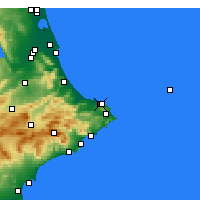 Nearby Forecast Locations - Caravaca de la Cruz - Map