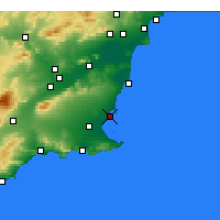 Nearby Forecast Locations - San Javier - Map