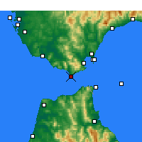 Nearby Forecast Locations - Tarifa - Map