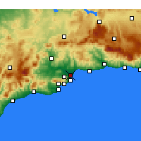 Nearby Forecast Locations - Málaga - Map