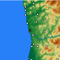 Nearby Forecast Locations - Porto - Map