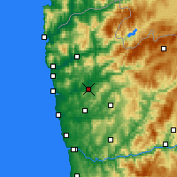Nearby Forecast Locations - Braga - Map