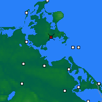 Nearby Forecast Locations - Rügen - Map