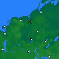 Nearby Forecast Locations - Rostock - Map