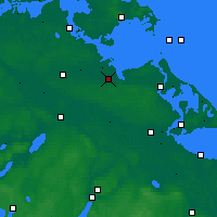 Nearby Forecast Locations - Greifswald - Map
