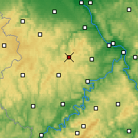 Nearby Forecast Locations - Nürburg - Map