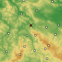Nearby Forecast Locations - Eisenach - Map