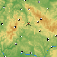 Nearby Forecast Locations - Meiningen - Map