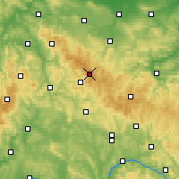 Nearby Forecast Locations - Rennsteig - Map