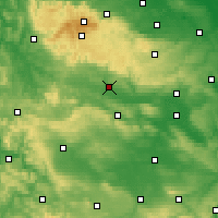 Nearby Forecast Locations - Nordhausen - Map