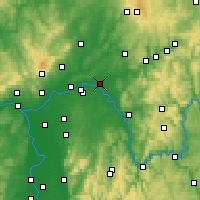 Nearby Forecast Locations - Hanau - Map