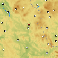 Nearby Forecast Locations - Grafenwöhr - Map