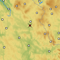 Nearby Forecast Locations - Weiden in der Oberpfalz - Map