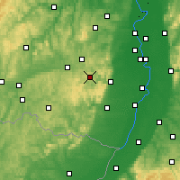 Nearby Forecast Locations - Palatinate Forest - Map