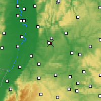 Nearby Forecast Locations - Kraichgau - Map