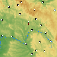 Nearby Forecast Locations - Coburg - Map