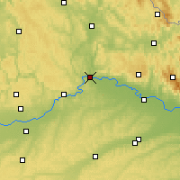 Nearby Forecast Locations - Regensburg - Map