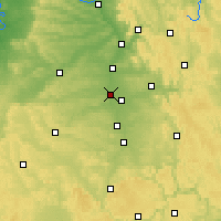 Nearby Forecast Locations - Fürth - Map