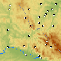 Nearby Forecast Locations - Waldmünchen - Map