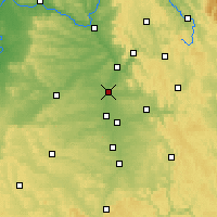 Nearby Forecast Locations - Erlangen - Map
